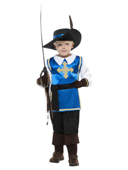 Boy's Musketeer Child Costume Blue Colour