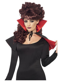 Black and Red Mini Vamp Cape