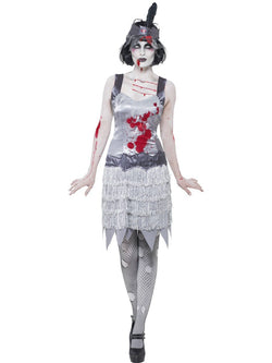 Women's Zombie Flapper Dress Costume Set