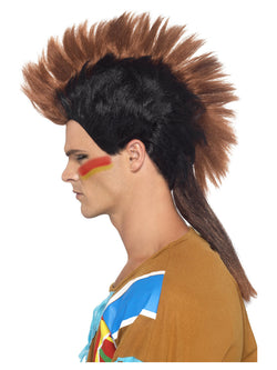 Men's Native American Inspired Male Mohican Wig - The Halloween Spot