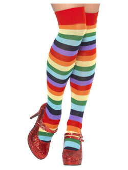 Long Multi-Coloured Clown Socks