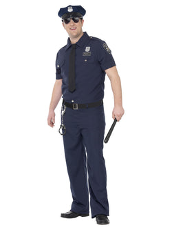 Men's Plus Size Curves NYC Cop Costume - The Halloween Spot