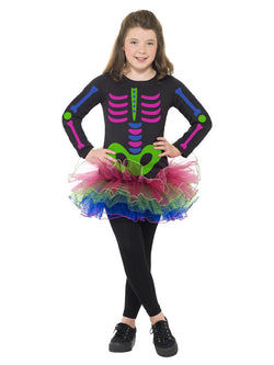 Neon Skeleton Girl Costume - The Halloween Spot