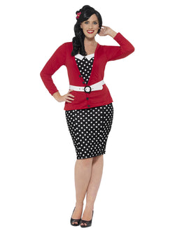 Women's Curves 1950s Pin Up Costume - The Halloween Spot