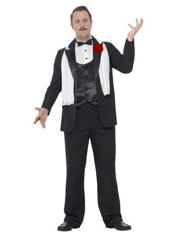 Men's Curves Gangster Costume, with Jacket, Trousers