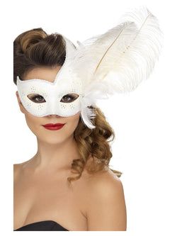 White coloured Ornate Columbina Eyemask
