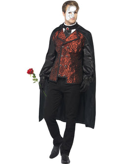 Men's Dark Opera Masquerade Costume Set