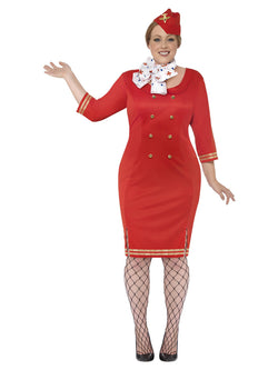 Women's Curves Air Hostess Costume