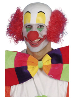 Red colour Clown Rubber Top Wig