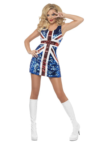 Women's Fever All that Glitters Rule Britannia Costume