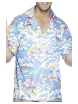 Blue coloured Hawaiian Shirt
