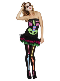Women's Fever Neon Skeleton Costume