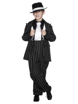 Boy's Zoot Black Suit Costume