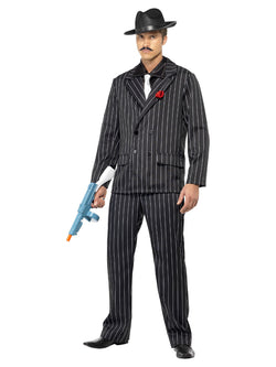 Men's Zoot Black Suit Costume