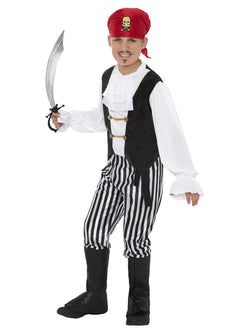 Boy's Black and White Pirate Costume