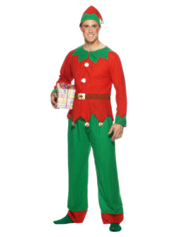 Red and Green Adult Elf Costume