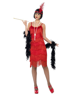 Women's Red Flapper Shimmy Costume