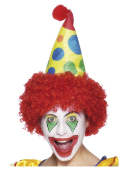 Red Clown Hat with Wig