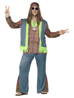 Plus Size Men's Hippie Costume - The Halloween Spot