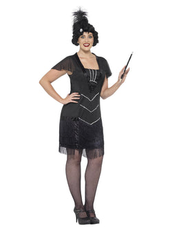 Women's Plus Size Curves Flapper Costume - The Halloween Spot