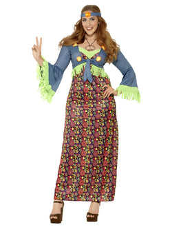 Plus Size Hippie Lady Costume - The Halloween Spot