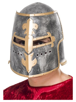 Medieval Crusader Silver Coloured Helmet