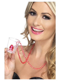 Pink coloured Hen Night Willy Shot Glass
