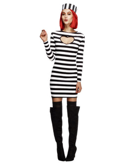 Women's Fever Convict Costume - The Halloween Spot