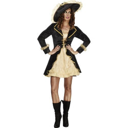 Women's Fever Swashbuckler Black Costume