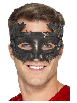 Black Warrior God Metallic Masquerade Eyemask