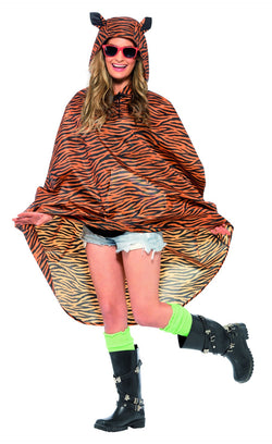 Tiger Party Poncho