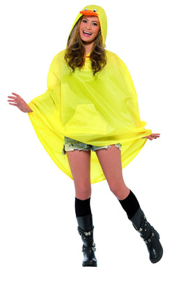 Duck Party Poncho with Drawstring Bag