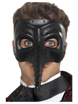 Venetian Gothic Capitano Mask - The Halloween Spot