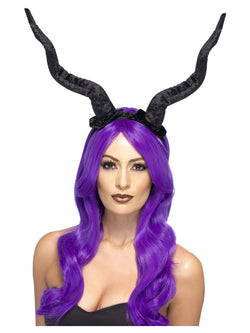Black Flexible Demon Horns Headband