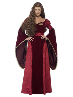 Women's Plus Size Medieval Queen Deluxe Costume - The Halloween Spot