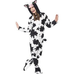 Unisex Black and White Cow Costume
