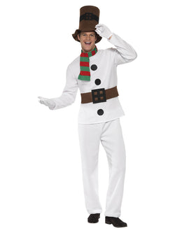 White coloured Mr Snowman Costume