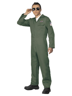 Men's Green Aviator Costume