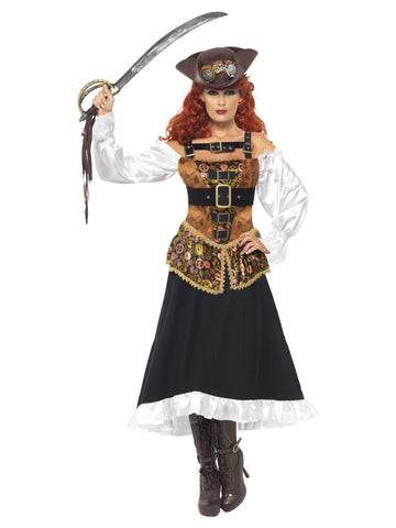 Women's Steam Punk Pirate Wench Costume