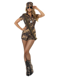 Camouflage Army Girl Sexy Costume