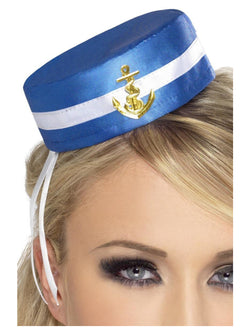 Blue Fever Pill Box Sailor Hat
