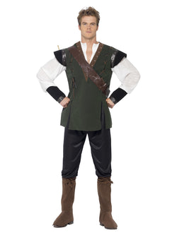 Green Coloured Men's Robin Hood Costume