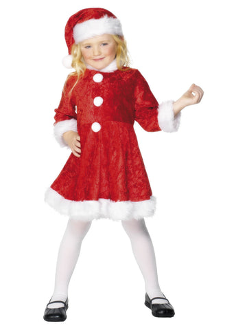 Mini Miss Red Santa Costume