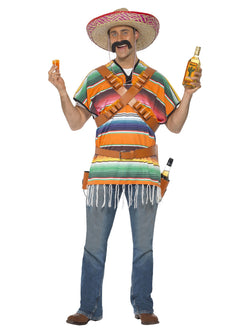 Men's Tequila Shooter Guy Orange and Green Costume