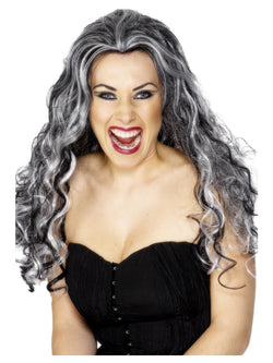 Renaissance Vamp Black and White Wig