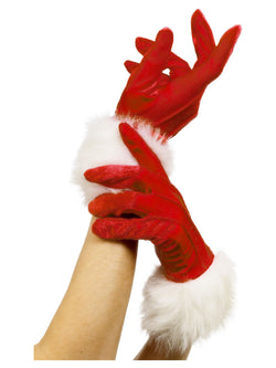 Red Santa Gloves