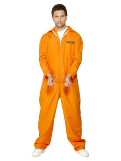 Men's Escaped Prisoner Costume Orange Colour