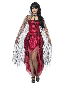 Gothic Lace Cape costume accessory - The Halloween Spot