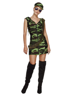 Women's Fever Combat Girl Costume