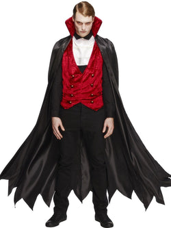 Men's Fever Vampire Red & Black Costume Set